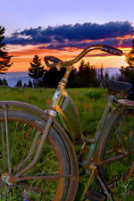Vail Valley Sunset by Todd Van Fleet Bike Cycling Bicycle Canvas Giclee 24x36