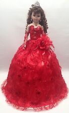 NEW Red 28 inch My 15 Mis XV Anos Quinceanera Porcelain Party Last Muñeca Doll