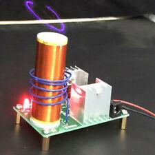 Mini Tesla Bobina Plasma Altoparlante Elettronico 15W 2A Con Inox Sfera Kit