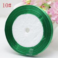 "Free Shipping NEW 3/8"" 10mm 25yards Craft Satin Ribbon Wedding Jewelry Green"