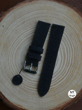 20mm Black Stingray Watch Strap Band Handmade Italy Cinturino orologio razza 20