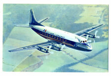 "1950s AIR FRANCE Airlines Viscers ""Viscount"" Postcard"