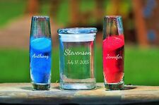 Personalized 3 Piece Unity Sand Ceremony Set With Lid- Includes 2 Colors Sand