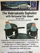 Diestco UNBREAKABLE CUPHOLDER with Horizontal Side Mount # A1327 - NEW