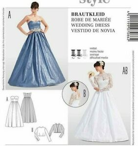 Burda 7086 SEWING PATTERN Misses' Style Fitted Evening Wedding Dress Size 10-20