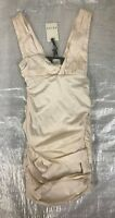 "BNWT LADIES "" REISS "" CREAM & BLACK LEXIA ROUCHED DRESS - UK 10 ! RRP £169 !"
