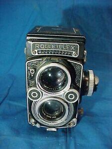 Vintage ROLLEIFLEX 3.5F TLR Medium Format CAMERA 1:3.5 F=75MM Rollei Honeywell