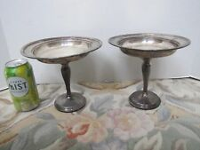 Pair of Vintage Sterling Silver Revere Silversmiths Candy Dishes