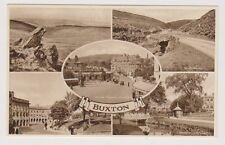 Derbyshire postcard - Buxton (Multiview showing 5 scenes)