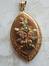Antique Gold Ornate Photo Picture Locket Pendant