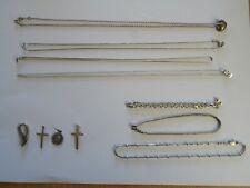 Lavoro Lotto 925 Bracciali Catene d'argento ciondolo collana Tiffany 29.72gr 11 oggetti CH
