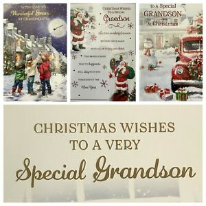 GRANDSON CHRISTMAS CARD (XMAS1)