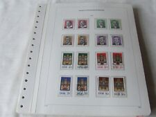 EAST GERMANY DDR 1976-79 MNH+FU COLLECTION ON KABE HINGELESS ALBUM LEAVES