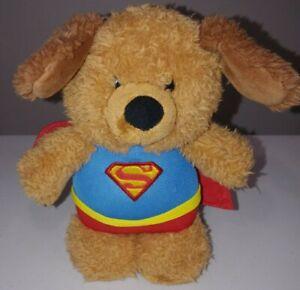 "Gund Superman Nightlight 8"" in Plush Animal Puppy Dog Brown DC Comics Toy"