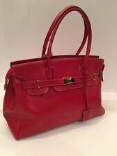Focus Paris Red Leather Handbag