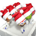 Newest 6PCS Mini Santa Claus Hat Christmas Holiday Lollipop Tops Topper Decor