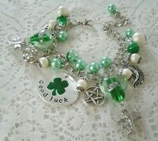 Good Luck Pentacle Charm Bracelet wiccan pagan wicca witch pentagram witchcraft
