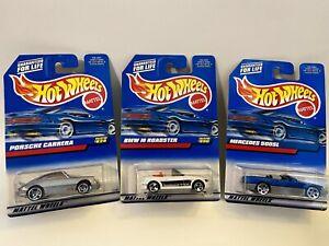 Hot Wheels Bonus Treasure Hunt Vintage BMW Roadster-Mercedes 500 SL-Porsche