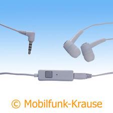 Headset Stereo In Ear Kopfhörer f. Sony Xperia XA1 (Weiß)