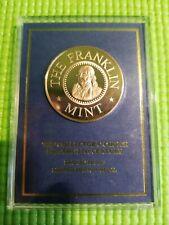 2000 Franklin Mint Millenium Bronze Proof Medal In Protective