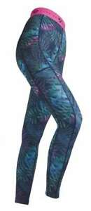 NEW! Shires Aubrion Dutton Girls Riding Tights Full Silicone Seat Tropical Print
