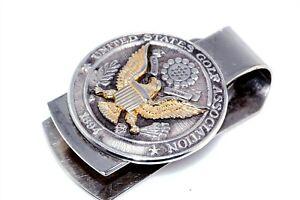 Vtg Sterling Silver 1894 United States Golf Association Money Clip