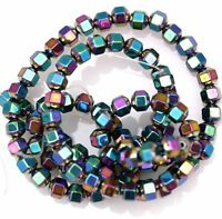 (about 100pcs) Hematite Gemstone Spacer Beads ,4mm,6color