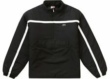 SUPREME LACOSTE PUFFY HALF ZIP PULLOVER JACKET BLACK COLOR NEW WITH TAG FW19