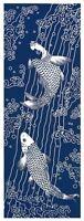 """Japanese Traditional Hand Towel """"TENUGUI"""" 90 x 35cm Made in JAPAN Carp Fish"""