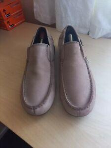 Mens Cat Caterpillar Brown Nubuck Leather Slip On Casual Shoes Size UK 10 EU 44