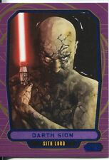Star Wars Galactic Files Blue Parallel #196 Darth Sion