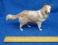 vintage classic 1960's hard plastic Bachmann model Rough Collie dog