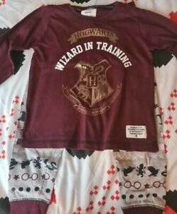 Primark Harry Potter Hogwarts Girls 2 pack Pyjama Sets Pajamas 7-8 years NEW