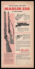 1954 MARLIN 336 30/30-C Rifle & 336-SD Deluxe Sporting Carbine PRINT AD
