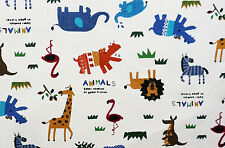 FURNISHING Heavy Cotton Fabric SMALL SAFARI ANIMALS by HALF METRE #71