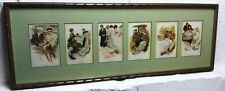 """Harrison Fisher 6 card print """"The Greatest Moments of a Woman's Life ca. 1900's"""