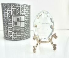Swarovski Silver Crystal - Egg Paper Weight - 7458 - w/ Box and Holder ~#3687