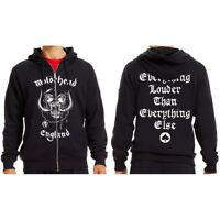 Rockoff Trade Men's England Zipped Hood Hoodie, Black, Medium - Motorhead Mens