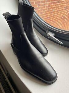 Bally Mens Shoes Boots Chukka Chelsea UK 8 EU 42 Black