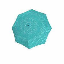 doppler Fiber Magic Glamour Regenschirm Accessoire Blue Türkis Weiß Neu