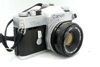 Canon TLb Manual Focus 35mm SLR Camera + Choice of Lenses (e.g. 50mm f/1.8)