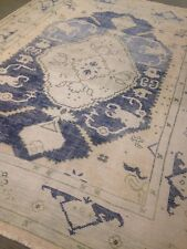 Oushak orintal Area Rug 8' x10' Wool Hand Made / Knotted New Distressed Look