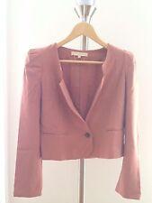 Vanessa Bruno Dusty Pink Padded Shoulder Jacket Size FR36 US 2 XS