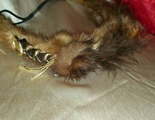 #239 Real Brown Mink Fur Headband