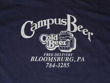 Campus Beer Bloomsburg Pa Shirt Vintage Mens Xl