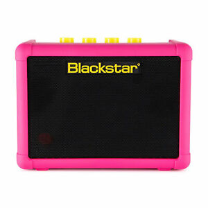 Blackstar Fly 3 Neon Special Edition Battery Powered Guitar Combo Amp, Neon Pink