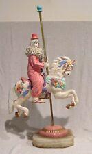 """Ron Lee 22 1/2"""" Clown Riding a Carousel Horse"""