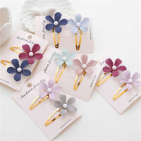 2Pcs Floral Hairpin Cute Headwear Flower Clip Baby Hair Clip Children Hair YL