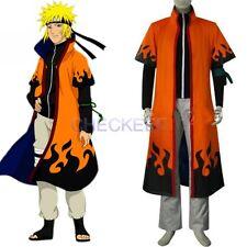 Anime Naruto Uzumaki 6th Hokage Halloween Cosplay Costume