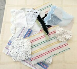 Vintage Fabric and Lace Pack Fabric Scraps Junk Journal or Slow Stitching Bundle Australia Seller Just Fabric and Lace